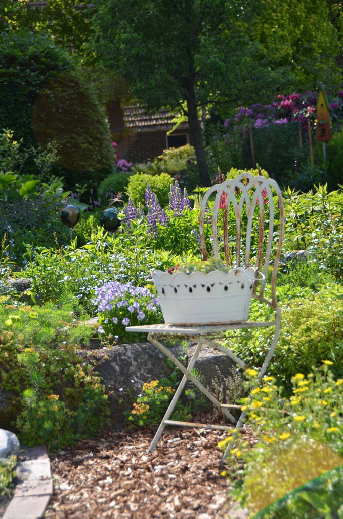 Gartenstuhl Dekoration